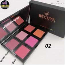 Be Cute 6 Color Blush On Palette Multi Colors 02