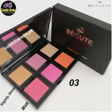 Be Cute Blush On Palette 6 Color Blush On Palette Multi Colors