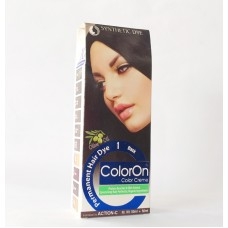 Color On Synthetic Dye Creme Hair Color Shade 01 Black