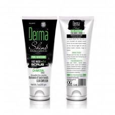 Derma Shine Charcoal Face Wash And Scrub 200gm