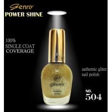 Genny Power Shine Authentic Glitter Nail Polish Shade 504