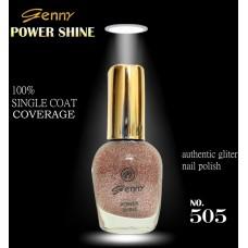 Genny Power Shine Authentic Glitter Nail Polish Shade 505
