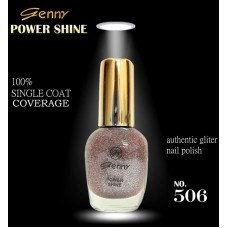 Genny Power Shine Authentic Glitter Nail Polish Shade 506