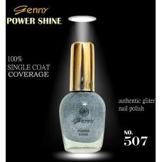 Genny Power Shine Authentic Glitter Nail Polish Shade 508