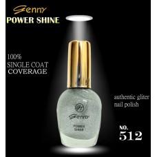 Genny Power Shine Authentic Glitter Nail Polish Shade 512