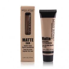 Miss Rose Professional Makeup Matte Liquid Foundation - Beige 3 Shade